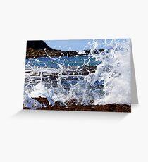 Wave Crashing on Rocks Greeting Card