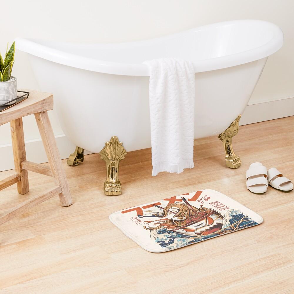 The Great Ramen off Kanagawa Bath Mat