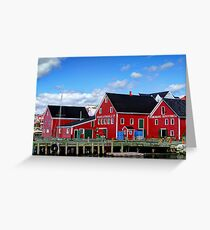 Fishing village Outfitter Greeting Card