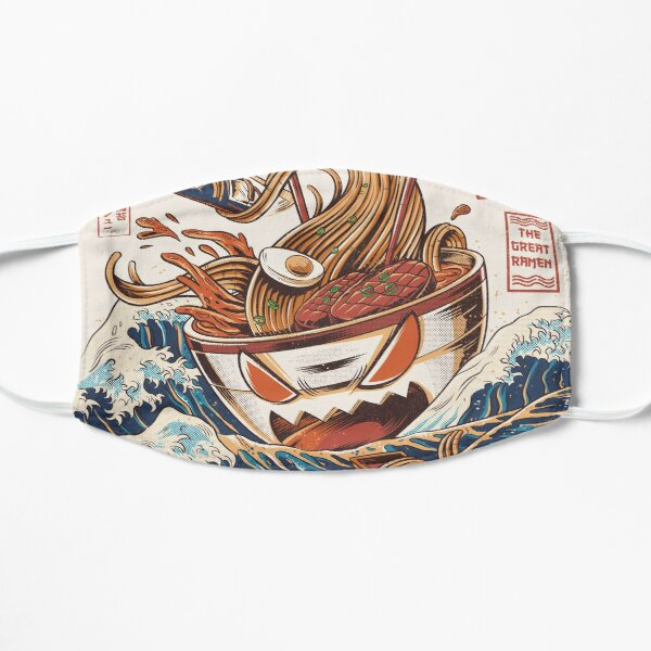 The Great Ramen off Kanagawa Flat Mask