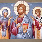 Deisis: Christ, St Anastasios & St Eleftherios by ikonographics