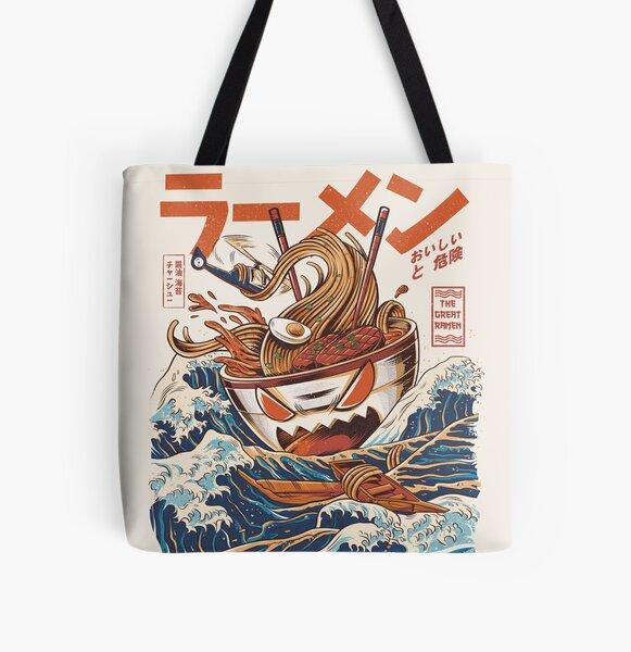 The Great Ramen off Kanagawa All Over Print Tote Bag