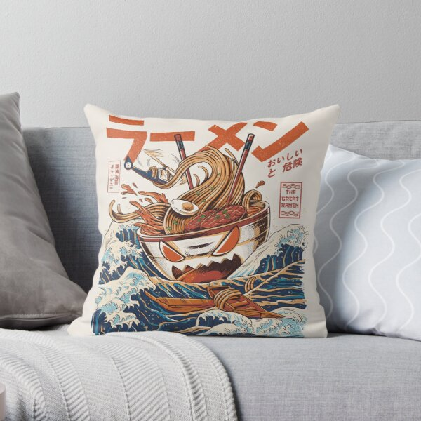 The Great Ramen off Kanagawa Throw Pillow