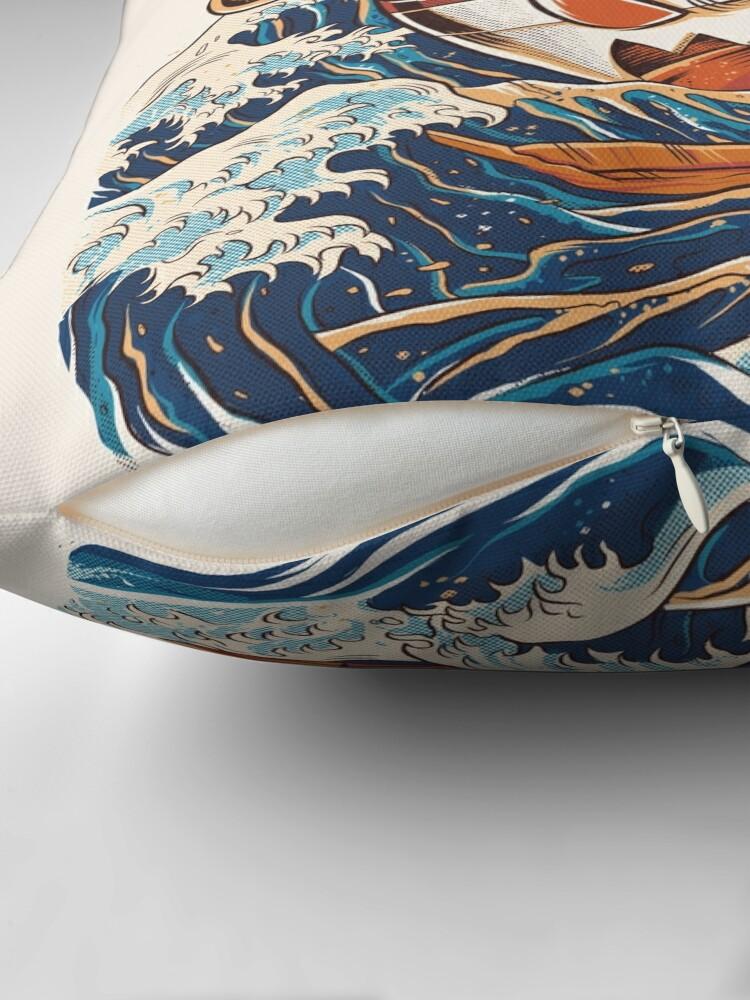 Alternate view of The Great Ramen off Kanagawa Floor Pillow