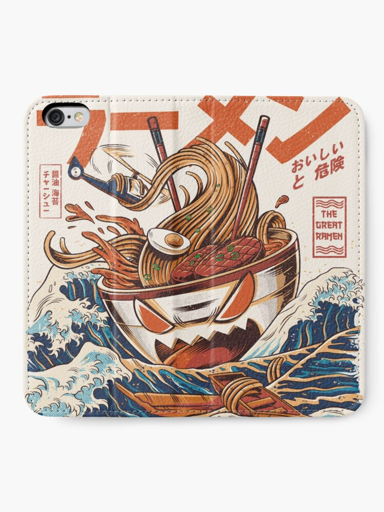 Alternate view of The Great Ramen off Kanagawa iPhone Wallet