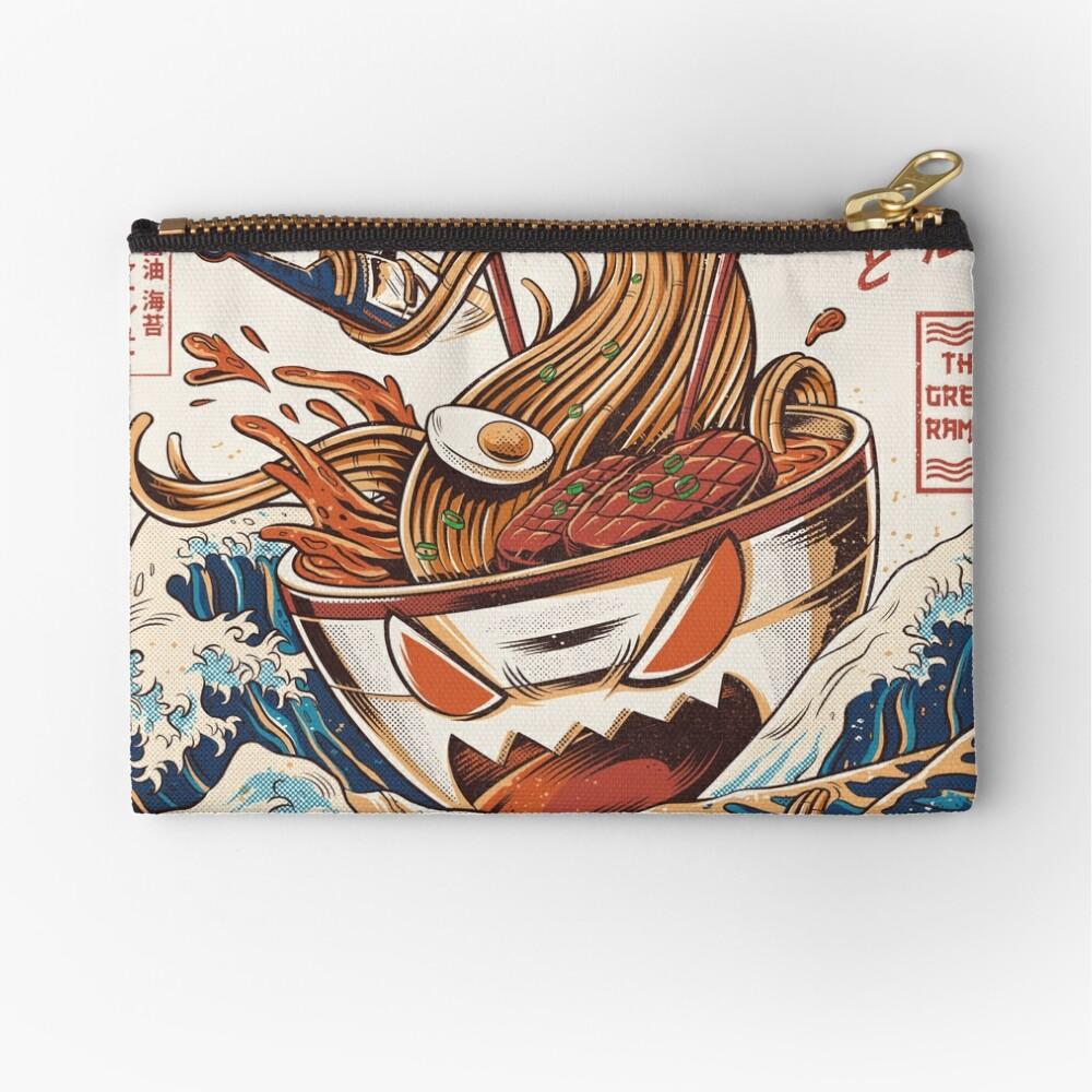 The Great Ramen off Kanagawa Zipper Pouch