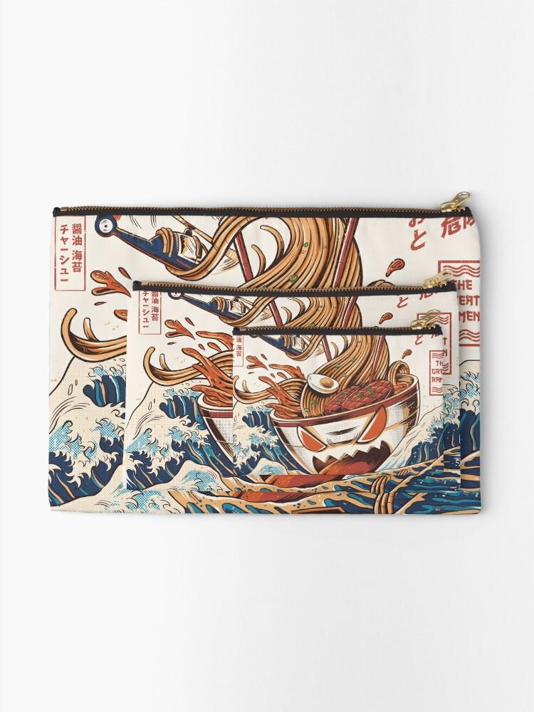 Alternate view of The Great Ramen off Kanagawa Zipper Pouch
