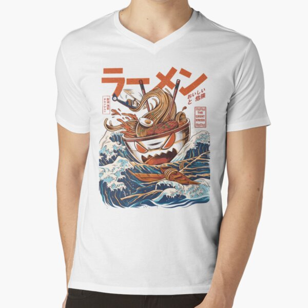 The Great Ramen off Kanagawa V-Neck T-Shirt