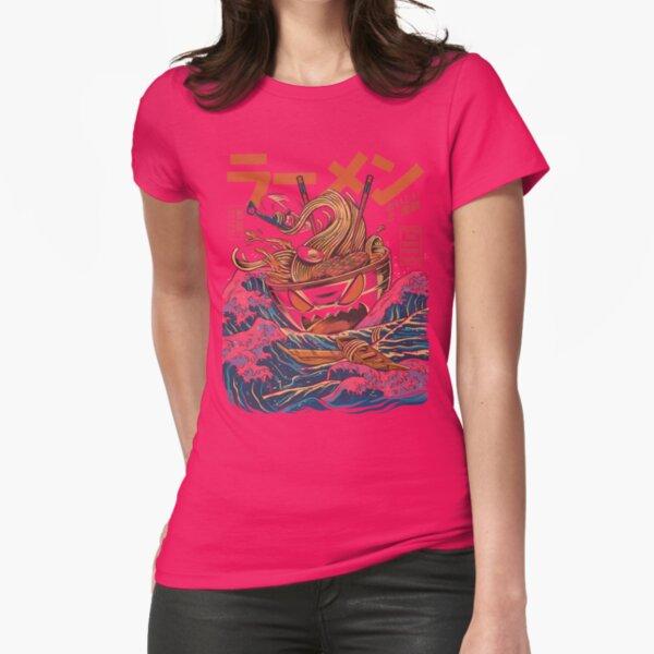 The Great Ramen off Kanagawa Fitted T-Shirt