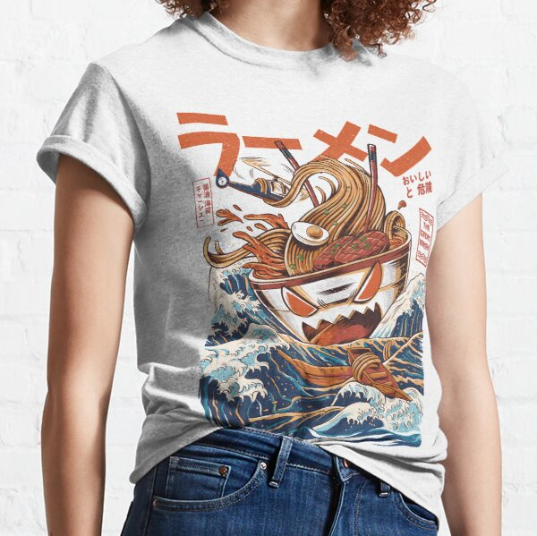 El gran ramen de Kanagawa Camiseta clásica