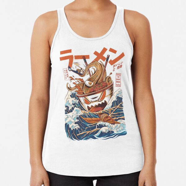 The Great Ramen off Kanagawa Racerback Tank Top
