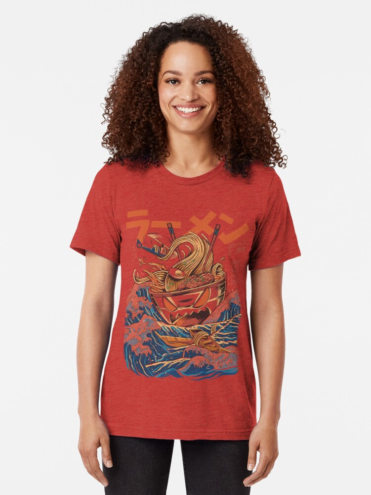 Alternate view of The Great Ramen off Kanagawa Tri-blend T-Shirt
