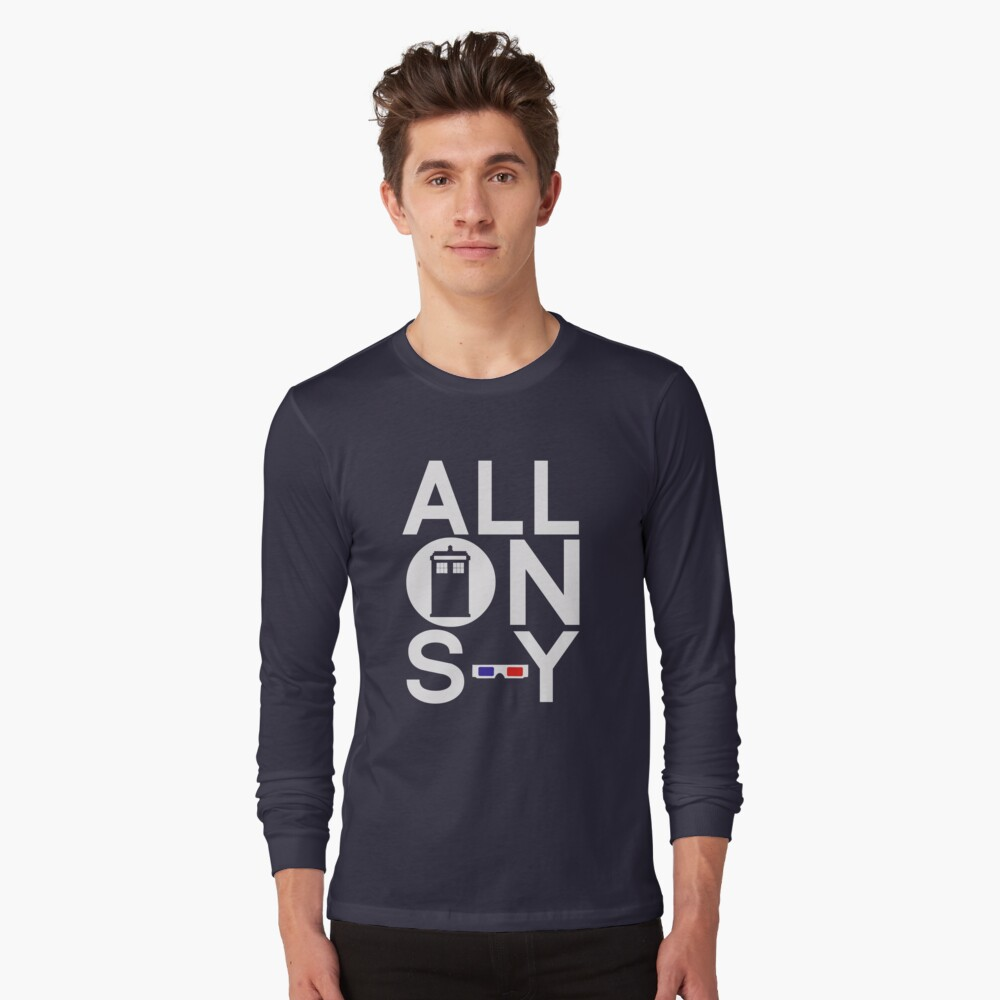 ALLONS-Y Long Sleeve T-Shirt Front