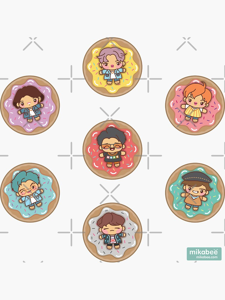 BTS Donuts Stickers by MikaBees
