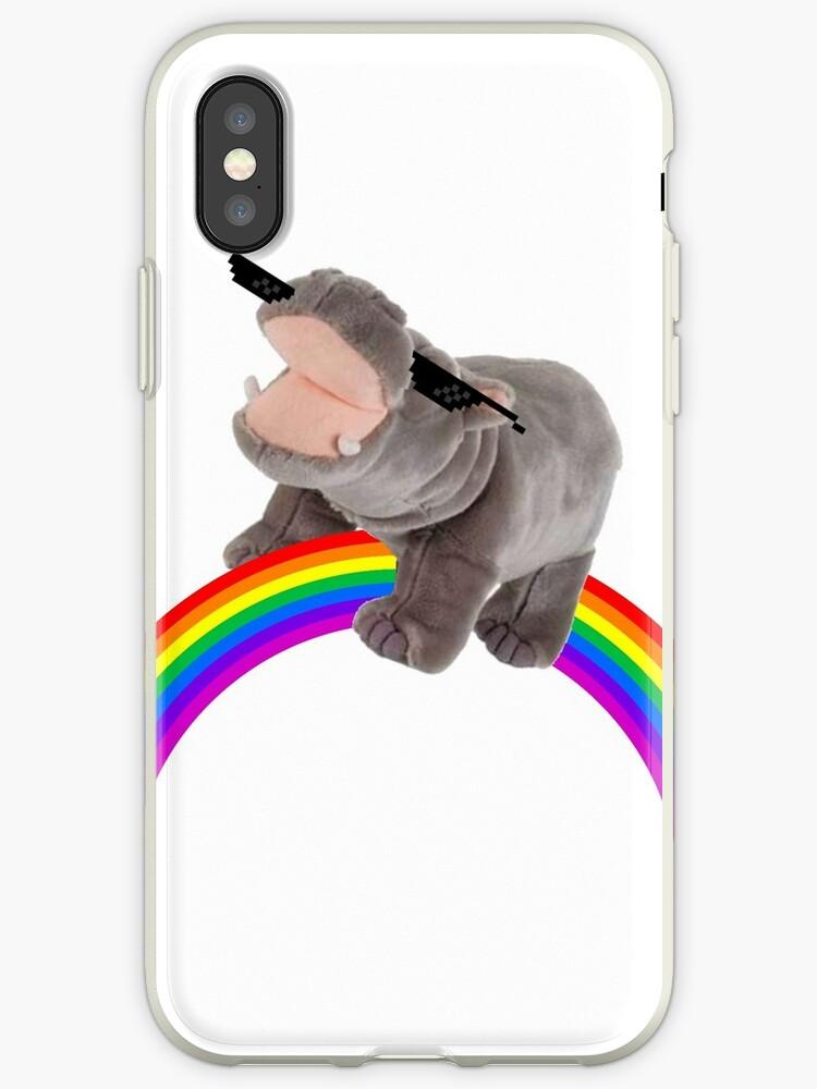 Rainbow Hippo by JardenTheRarden