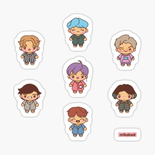 BTS Pajama Party Stickers (Version 2) Sticker