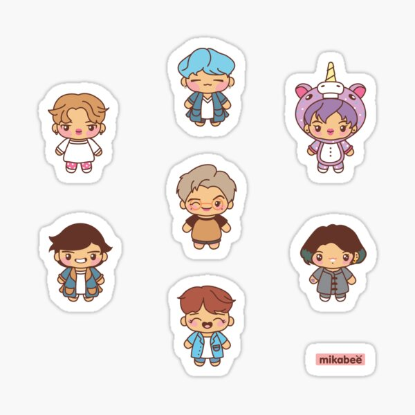 BTS Pajama Party Stickers (Run BTS Version) Sticker