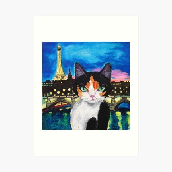 City Kitty-PARIS Art Print