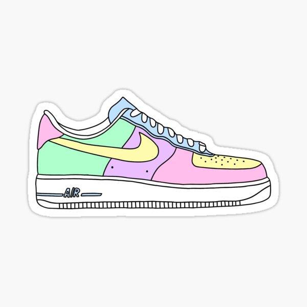 pastel af1 shoe Sticker