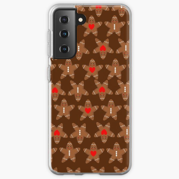 Pattern Gingerbread man Samsung Galaxy Soft Case