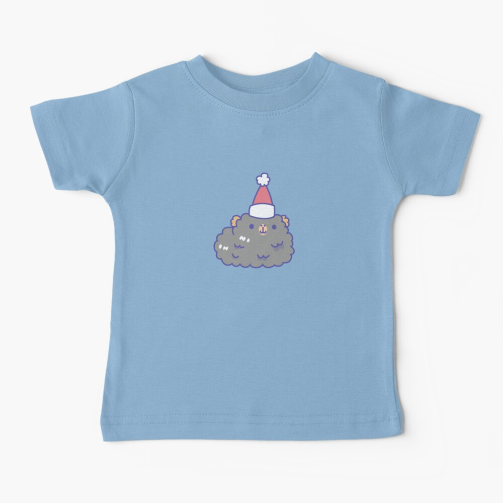 Teddy guinea pigs Christmas Patten in Mint Green Background  Baby T-Shirt