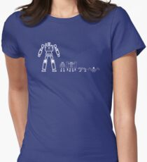 Soundwave and his family Women's Fitted T-Shirt