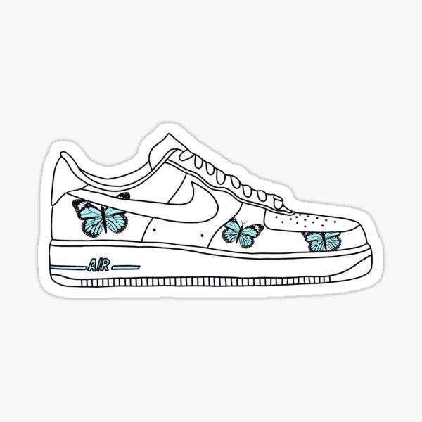 chaussure papillon af1 Sticker