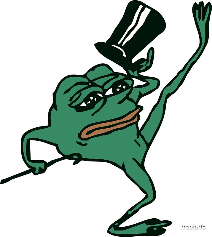 Quot Pepe The Sad Dancing Frog Quot Stickers By Freelaffs