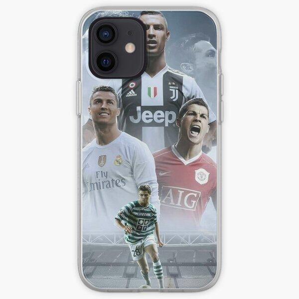 Cristiano Ronaldo dans ses clubs actuels et anciens (HD) Coque souple iPhone
