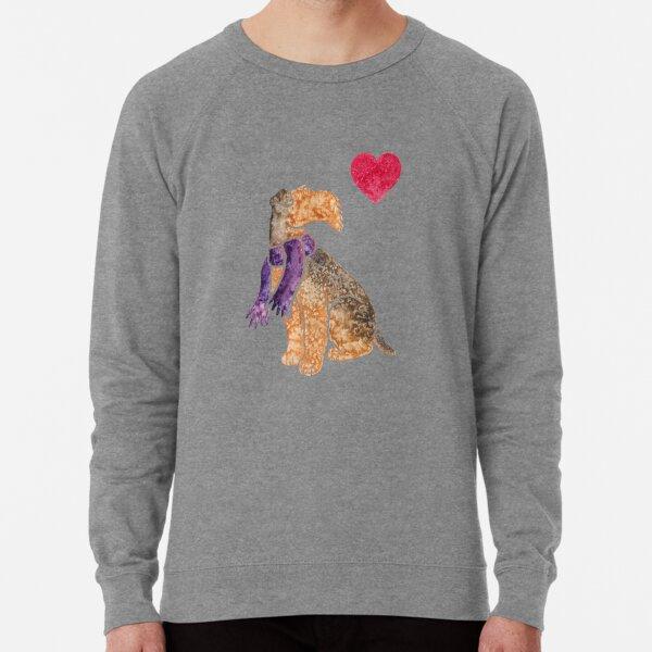 Watercolour Airedale Lightweight Sweatshirt