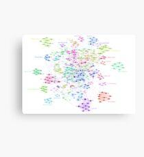 The Graph Of TV Actors Canvas Print