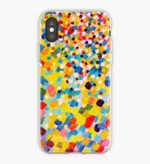 SWEPT AWAY 2 - Vibrant Colorful Rainbow Mango Yellow Waves Mermaid Splash Abstract Acrylic Painting iPhone Case