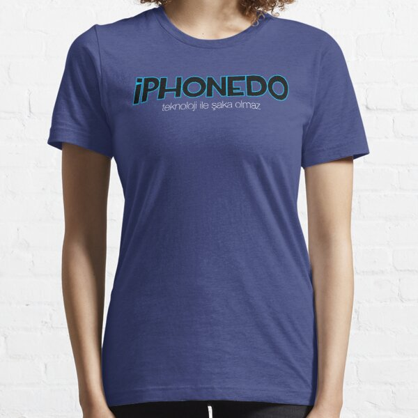 iPhonedo Siyah/Mavi Essential T-Shirt