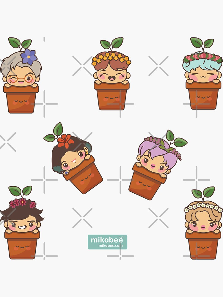 BTS Birthday Sprouts ~Stickers~ by MikaBees