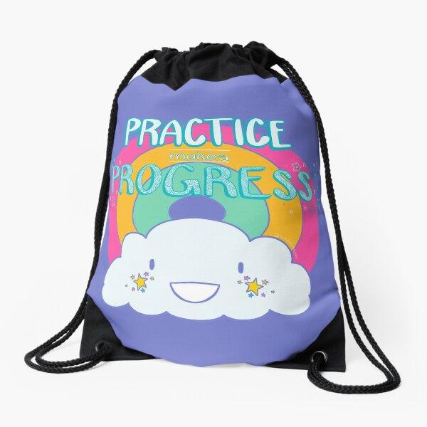 Practice Makes Progress Drawstring Bag