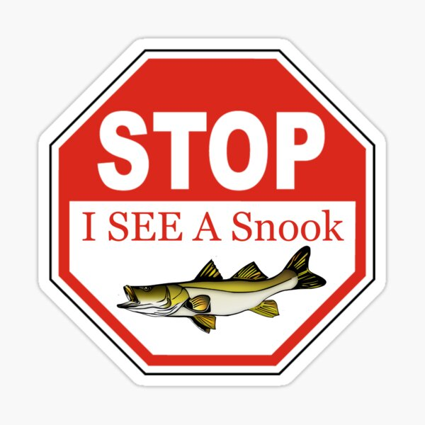 Stop I See a Snook in the Florida Keys Sticker