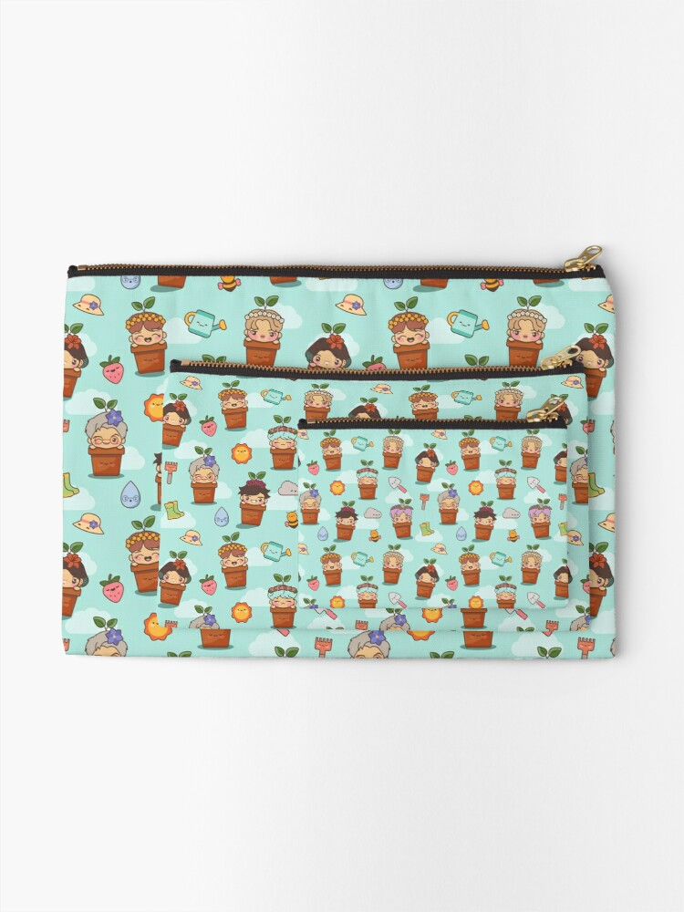 Alternate view of BTS Birthday Sprouts ~Pouches & Pillows~ Zipper Pouch