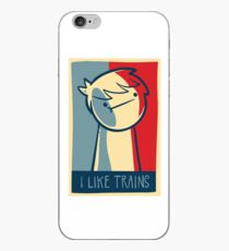 "iphone 5 deflector case ""I like trains"" iPhone Case"