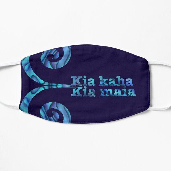 Kia kaha Kia Maia double koru Flat Mask