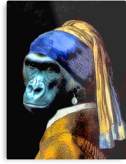 Gorilla With Pearl Earring by SuddenJim
