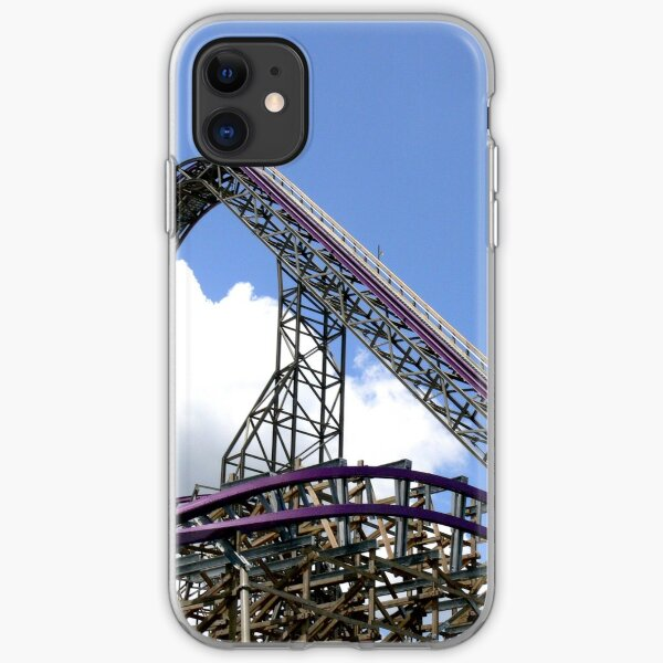 Iron Gwazi Roller Coaster at Busch Gardens, Tampa, FL iPhone Soft Case