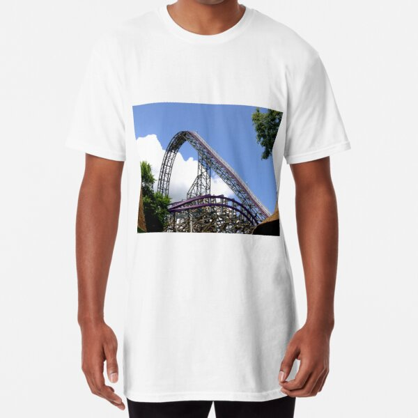 Iron Gwazi Roller Coaster at Busch Gardens, Tampa, FL Long T-Shirt