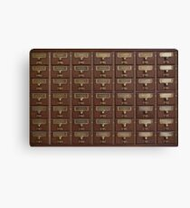 Vintage Library Card Catalog Drawers Canvas Print