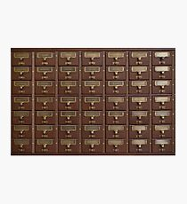 Vintage Library Card Catalog Drawers Photographic Print