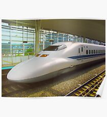 Shinkansen bullet train, Japan Poster