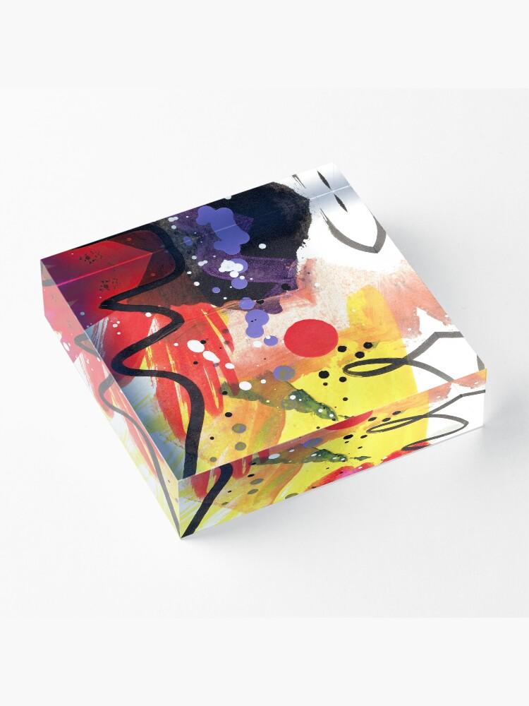Alternate view of Energy Dawn Acrylic Block