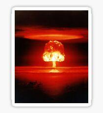 Beautiful Destruction Orange Mushroom Cloud Sticker