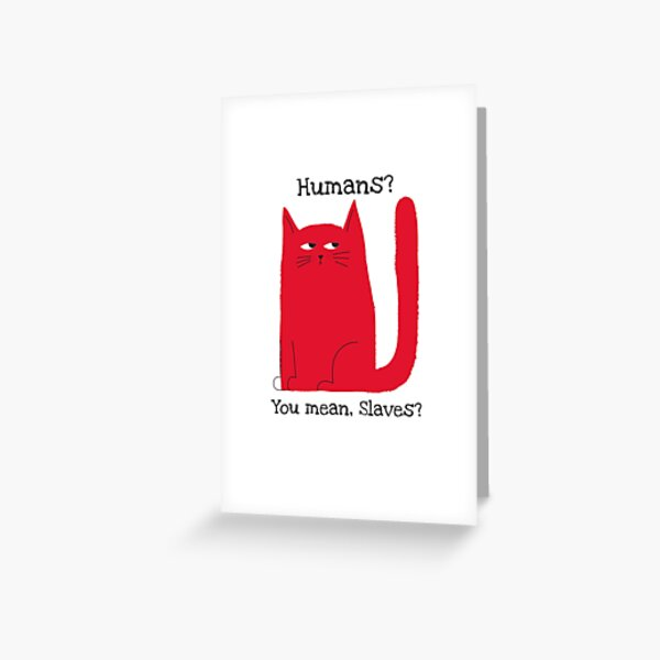 Cute Grumpy Cat Face Mask Greeting Card