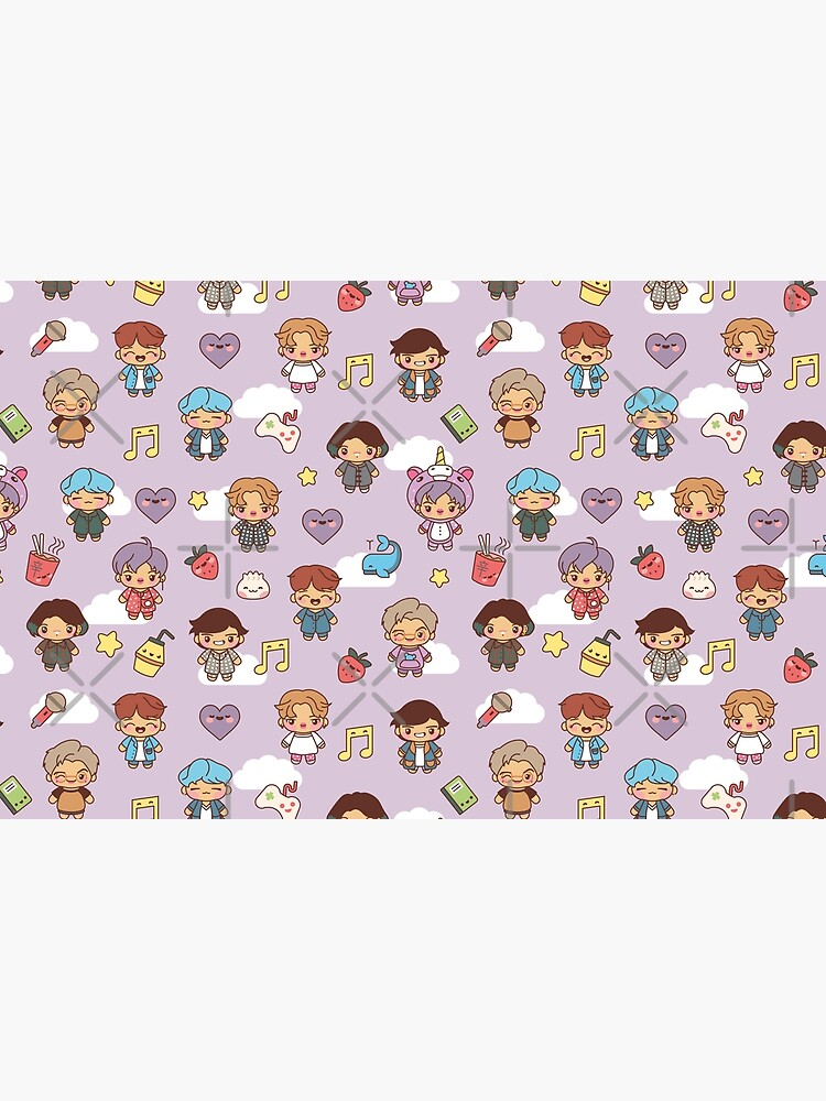 BTS Pajama Party (Purple, Pouches & Sleeves) by MikaBees