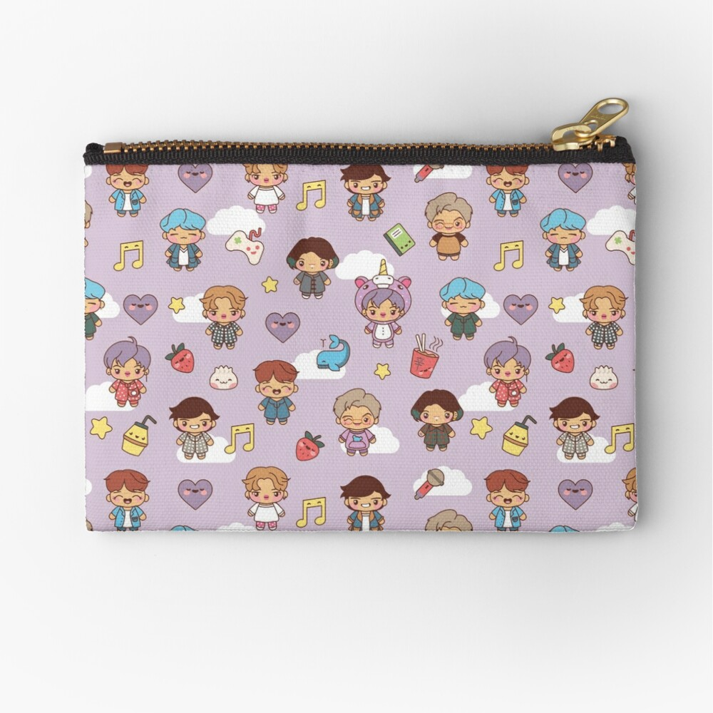 BTS Pajama Party (Purple, Pouches & Sleeves) Zipper Pouch